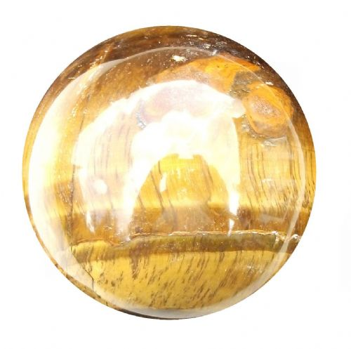 Tiger Eye Fortune Telling Crystal Ball Gemstone Sphere for Meditation 60mm 300g (TE11)
